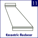 Excentric reducer