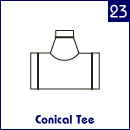 Conical tee