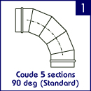 Coude 5 sections 90 deg (Standard)