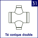 Té conique double